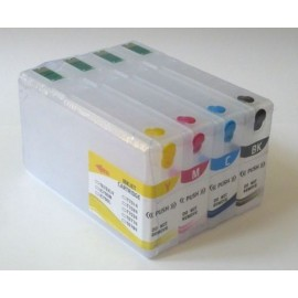 Refillable T676XL1-T676XL4 cartridges for Epson filled with UV invisible ink