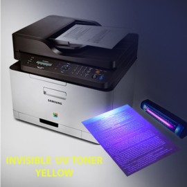 Invisible UV toner powder for Samsung and Lexmark monochrome, yellow