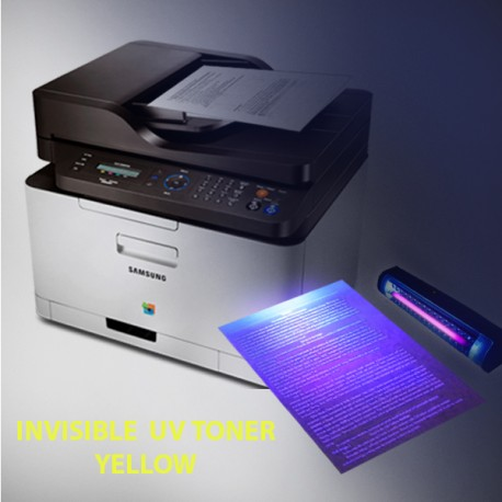 Invisible UV toner for Samsung and Lexmark monochrome, yellow, powder 50 g