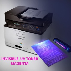 Invisible UV toner powder for Samsung and Lexmark monochrome, magenta