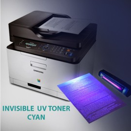 Invisible UV toner powder for Samsung and Lexmark monochrome, cyan