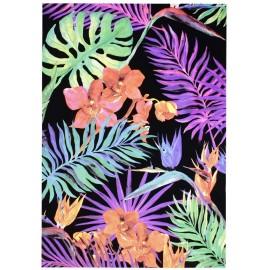 Blacklight postert Exotic Leaves print glow at blacklight art wall fluorescent