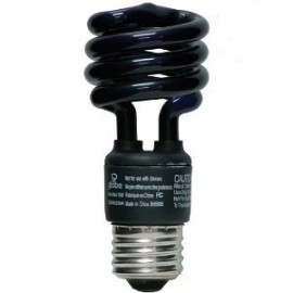 Ergonomical UV, blacklight screw bulb