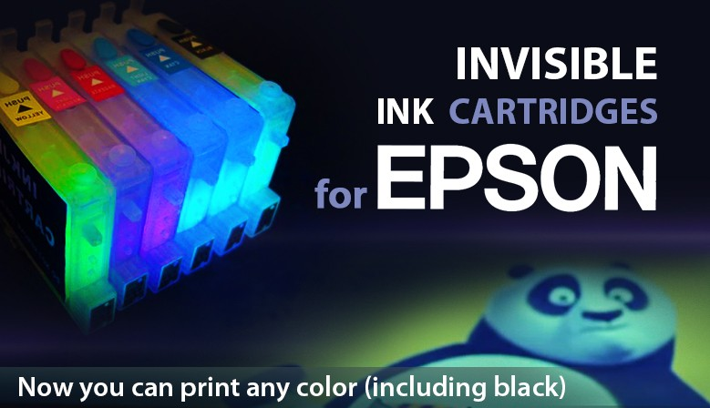 Invisible ink for Epson cartridges