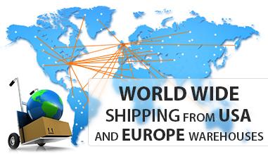 Envio dos SUA e Europa armazéns