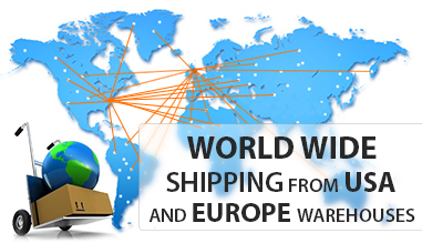 Shipping from USA and Europe warehouses