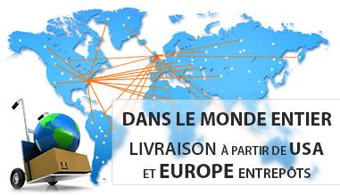 Expédition à partir des Etats-Unis et l'Europe entrepôts